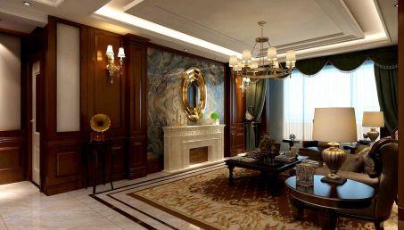 歐式客廳窗簾裝飾實景圖