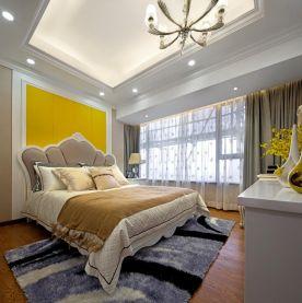 卧室背景墙欧式风格地板装修图