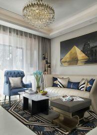 时尚米色客厅室内装修设计
