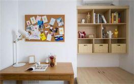 儿童房书桌日式小书架装饰实景图片