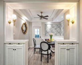 质感咖啡色餐桌室内装修设计