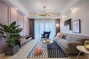 89平混搭风格两居室装修效果图