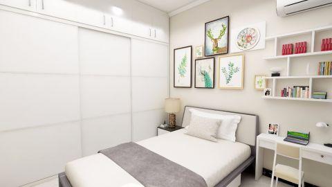 2019现代简约卧室装修设计图片 2019现代简约照片墙装修效果图大全