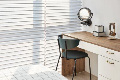 卧室书桌白色简约家装设计