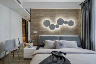 简欧卧室床装饰实景图片