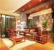 157平东南亚风格三居室装修效果图