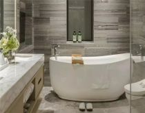 卫生间背景墙新中式风格装潢效果图