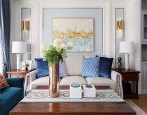 客厅背景墙现代U乐国际装潢图片