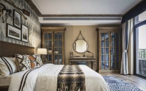 卧室吊顶混搭风格装潢效果图
