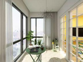 阳台落地窗简约风格装修设计图片