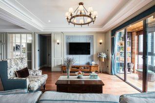 281平美式风格三居室装修效果图
