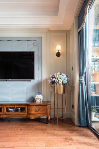 客厅地砖美式风格装饰图片