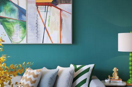 客厅背景墙简约U乐国际装饰图片
