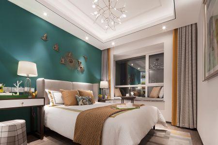 卧室背景墙简约U乐国际u乐娱乐平台设计图片