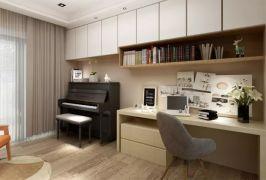 书房书桌北欧风格装饰效果图