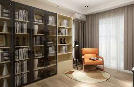 书房书架北欧风格装潢效果图