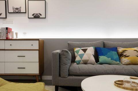 客厅背景墙北欧U乐国际装潢图片