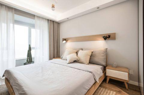 卧室窗帘北欧U乐国际装潢设计图片