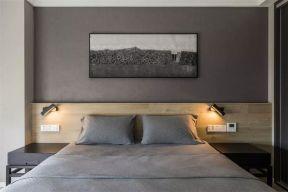 卧室背景墙现代简约U乐国际装潢图片