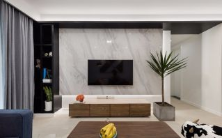 客厅电视柜现代简约装修