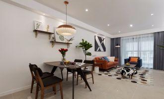 现代简约客厅窗帘室内装饰