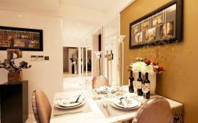 质朴简约白色餐桌装潢设计图片