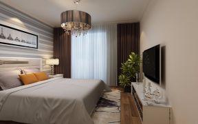 简约卧室窗帘设计图片