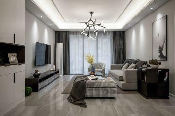 100平现代简约风格三居室装修效果图
