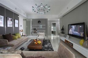 客厅白色吊顶装饰实景图