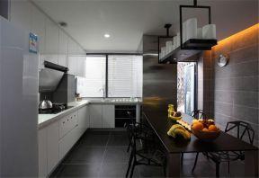 风雅现代简约白色橱柜装潢实景图片