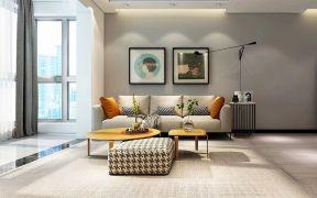 客厅灰色沙发图片