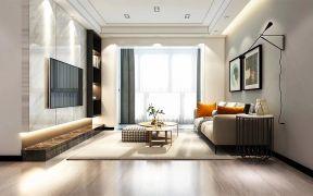 客厅吊顶现代简约实景图