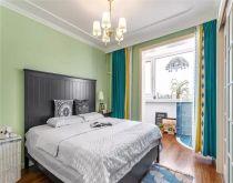 卧室背景墙美式装潢效果图