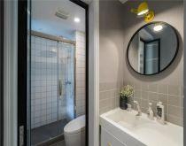 卫生间白色洗漱台北欧风格装饰设计图片