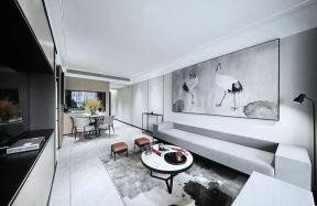 80平新中式风格楼房装修效果图