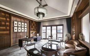 96平中式风格三居室装修效果图