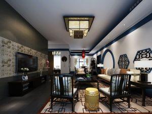 157平中式风格套房装修效果图
