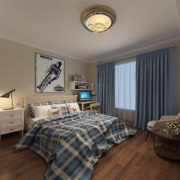 豪华卧室窗帘装潢设计图片
