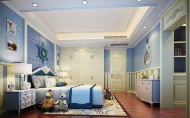 儿童房白色吊顶家装设计