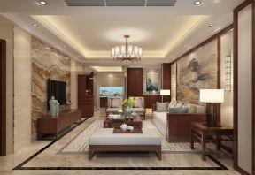 171平新中式风格四居室装修效果图