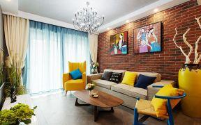 95平混搭风格两居室装修效果图
