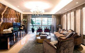 113平中式风格三居室装修效果图
