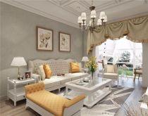 85平欧式风格三居室装修效果图