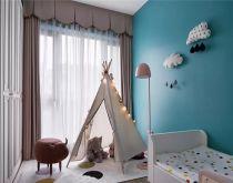 儿童房粉色窗帘装修实景图片