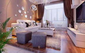 60平现代简约风格一居室装修效果图