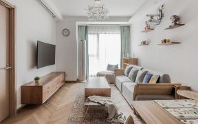 85平北欧风格两居室装修效果图