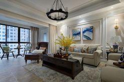 108平美式风格两居室装修效果图