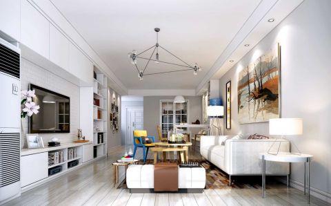 162平现代简约风格三居室装修效果图