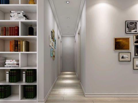 玄关灰色走廊室内效果图