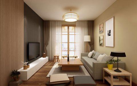 72平中式风格套房装修效果图